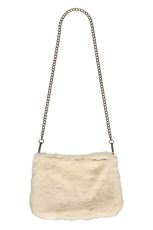 Faux fur bag - Beige