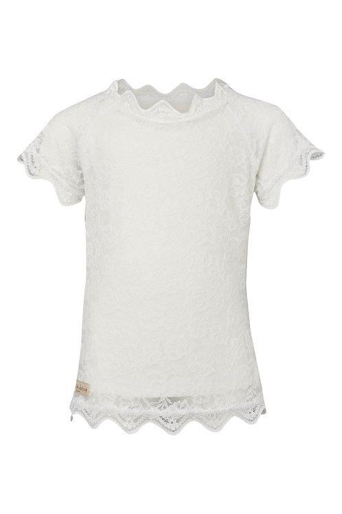 3535B - Lace T-shirt - Pearl