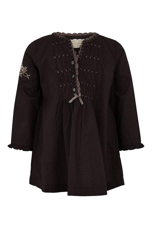 3480L - Shirt w.emb - Black