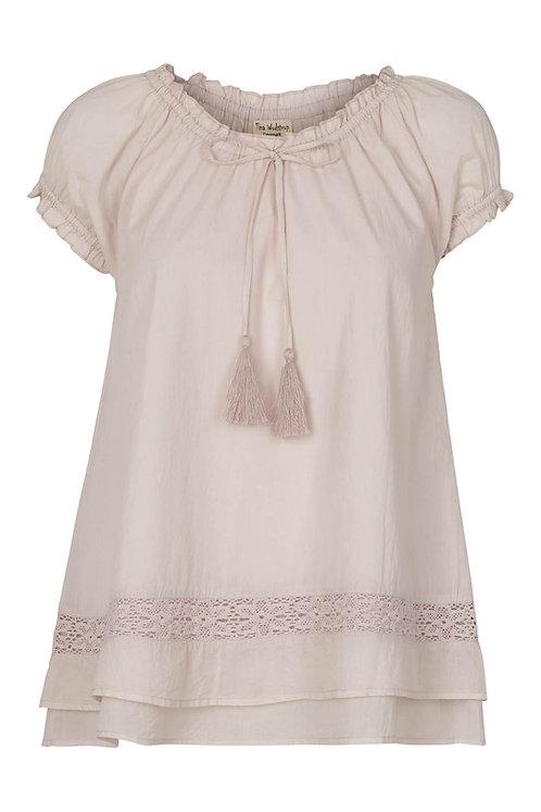 3570C - Cotton top w.lace - Mauve