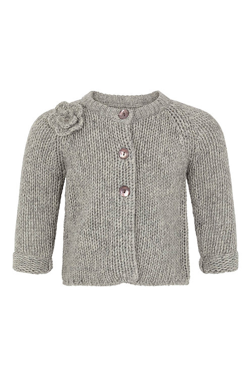 3631H - Wool Bamboo cardigan - Grey