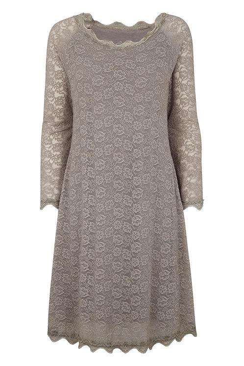 3330J - Lace dress - Silk mink