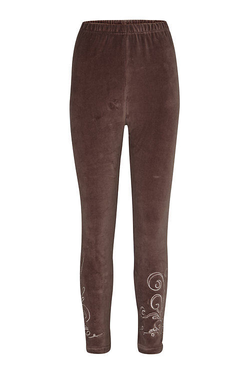 2510J - Velvet leggings - Mocha