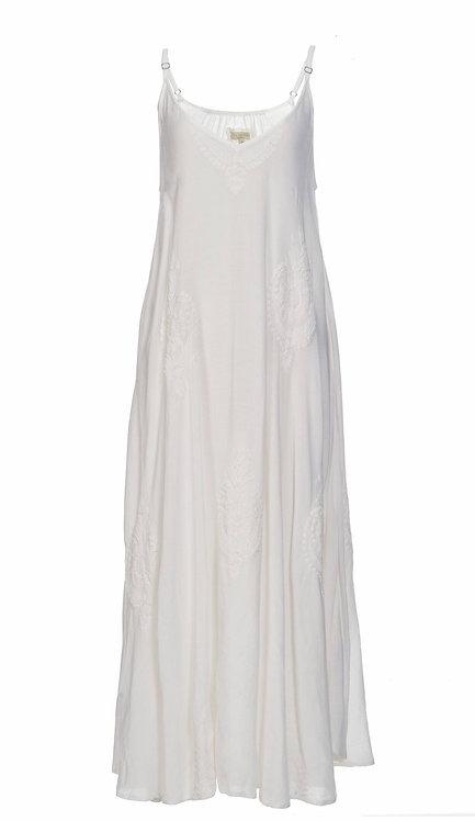 3405B - Viscose strap dress - Pearl