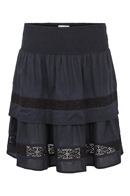 3572L - Skirt w.frill - Black