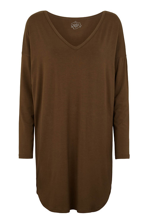 3467J - Viscose oversize blouse - Olive