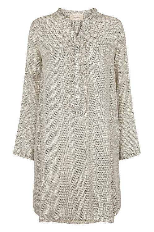 3610A - Long shirt w.pockets - Grey print