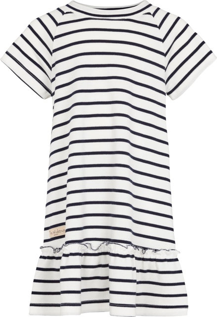 3524A - Dress w.frill - Stripe