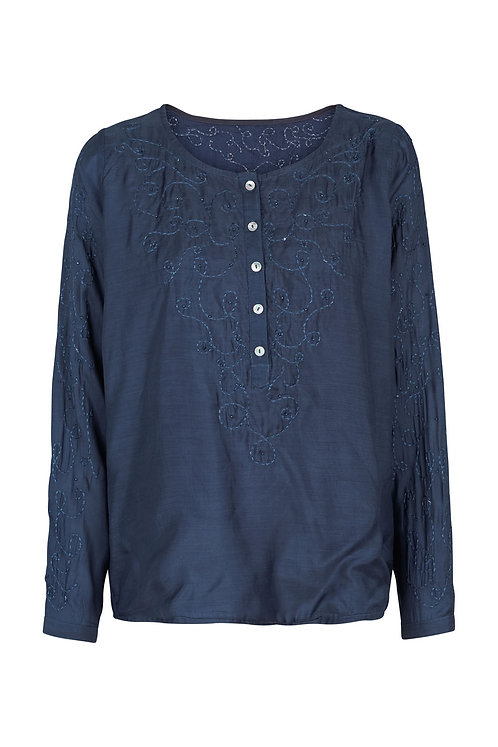 2600G - Embroidery shirt - Blue