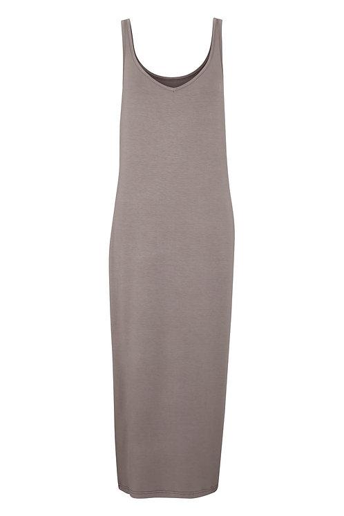 3329J - Long viscose dress - Silk mink