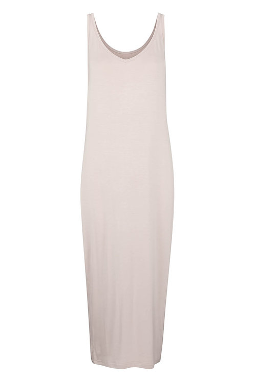 3329D - Long viscose dress - Purple