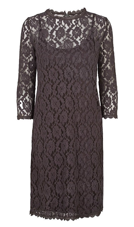 2849 - Lace dress - Granit grey