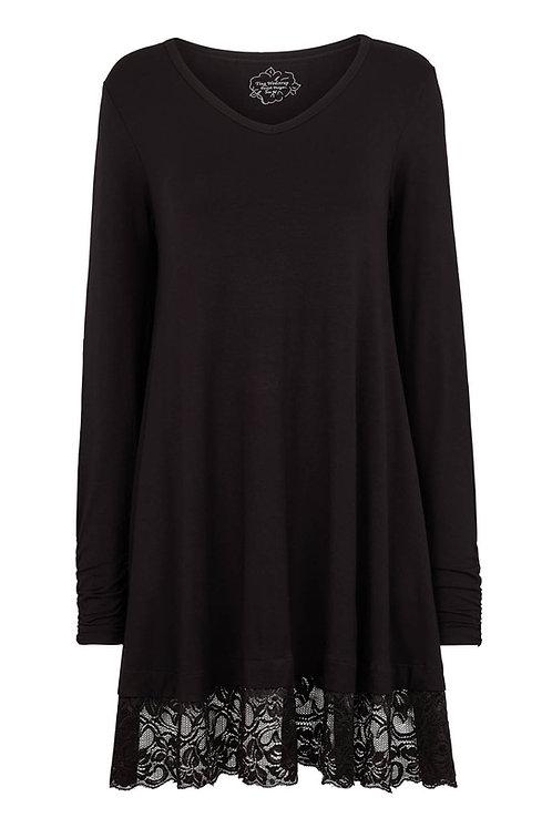 3470L - Viscose jersey tunica - Black
