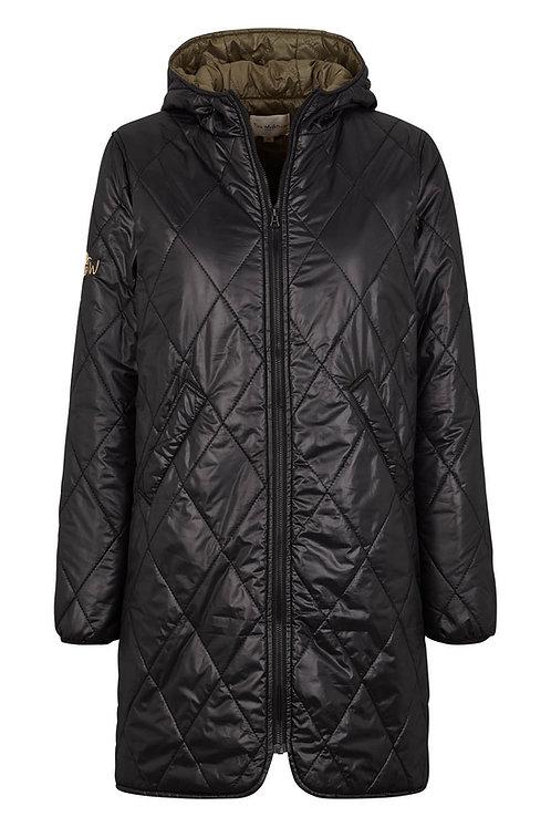 3422L - Quilt Coat - Black