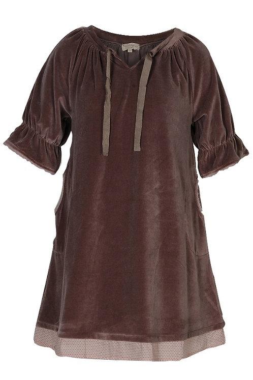 1560C - Velvet dress - Nougat