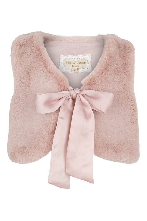 3493C - Fur waist coat  - Rosa