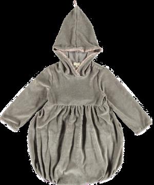 2176i - Velvet Baloon Dress - Stone