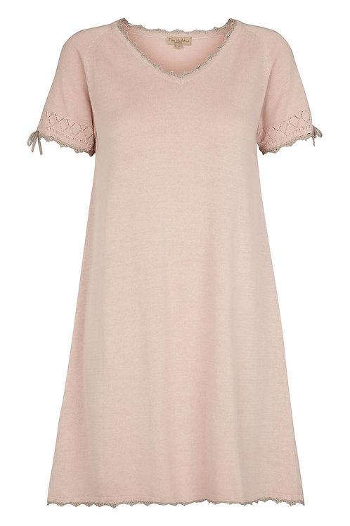2741C - Cotton knit dress - Powder Rosa