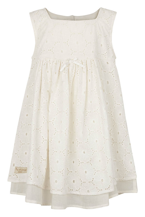 2468B - Embroidery dress - Off-white