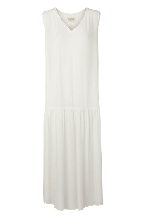 Viscose crepe dress - Pearl