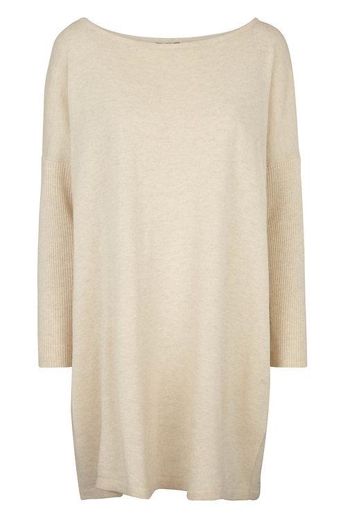 2906B - Big blouse cashblend – Beige