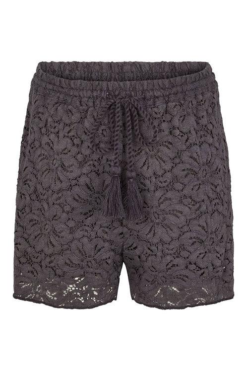 3730L - Cotton Lace Shorts - Plum kitten