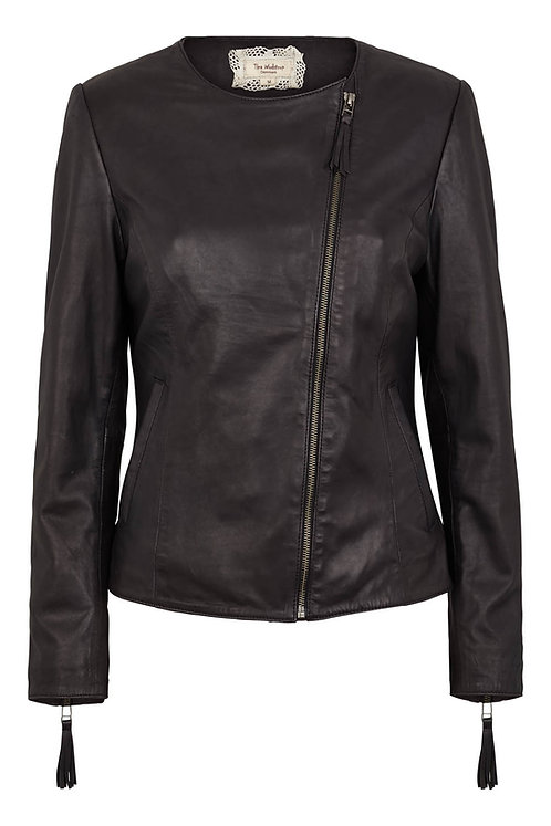 3513L - Jacket in Lamb leather  - Black