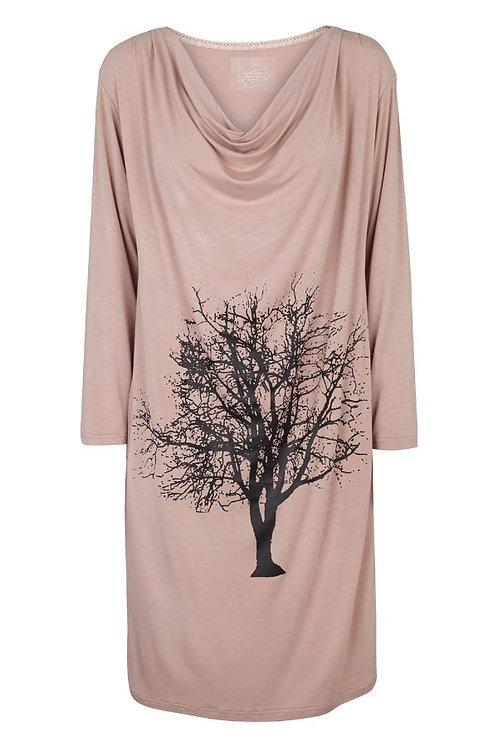2825C - Dress w.print - Rosa