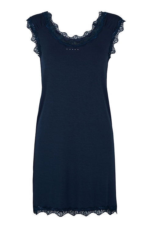 2506G - Long Top w.lace – Midnight blue