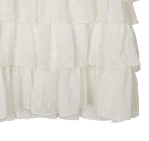 3784B - Georgette frill skirt - Off-white