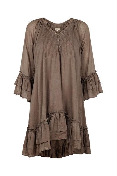 2447C - Tunica dress w.Frill - Rosa