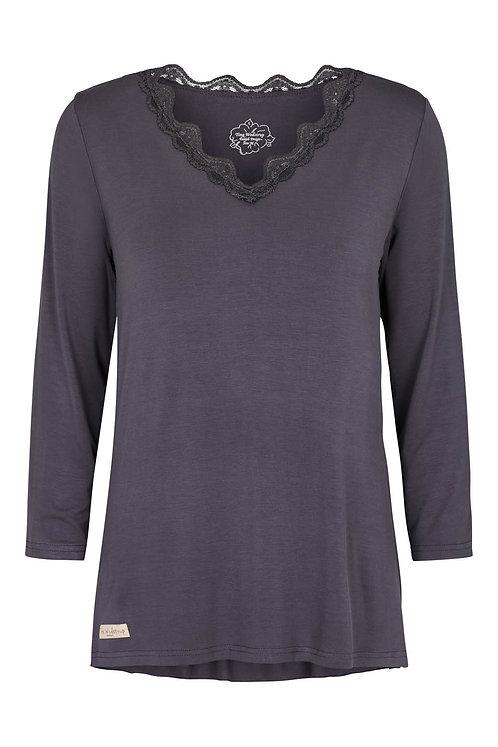 3662K - V blouse - Granit