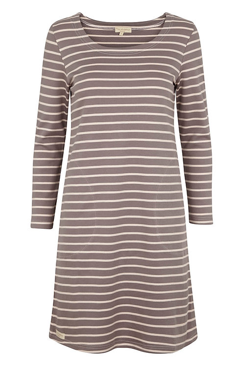 2640B - Stripe Dress - Off.White/navy