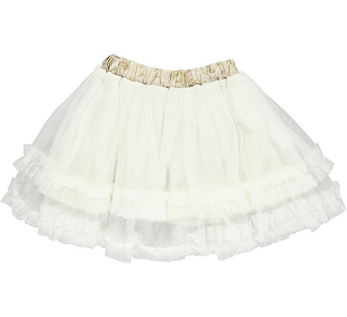 2654B - Tulle skirt - Off-white