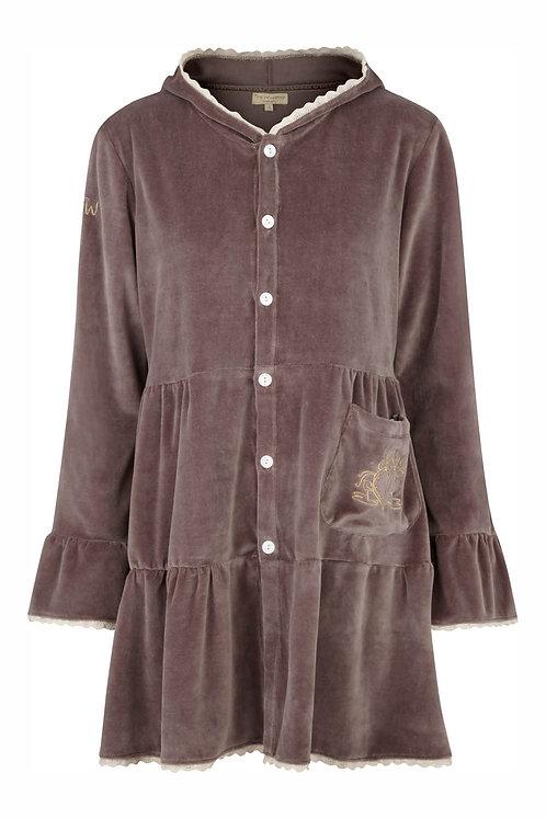 2649i - Tunica coat w.hood - Mole