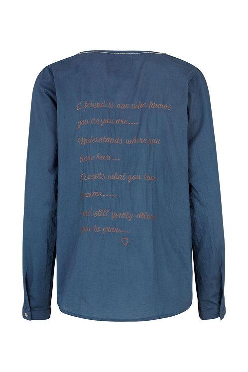 2603G - Poem Shirt  - Blue
