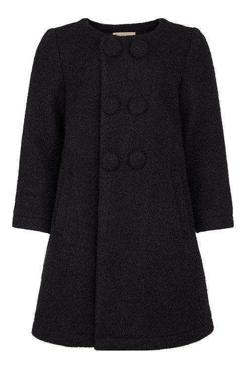 3427L - Wool coat - Black