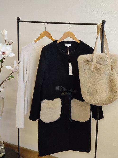 3759L - Wool coat - Black