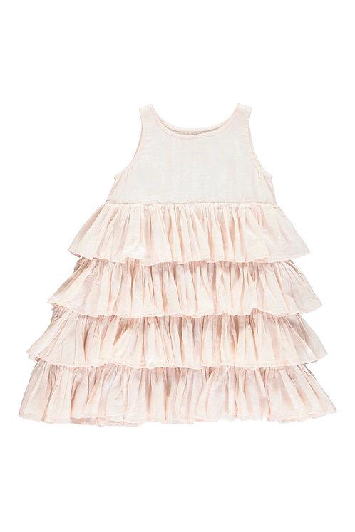 3827C - Frill dress - Soft Rosa