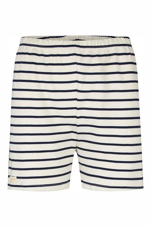 2638B - Stripe Shorts - Off.White/navy