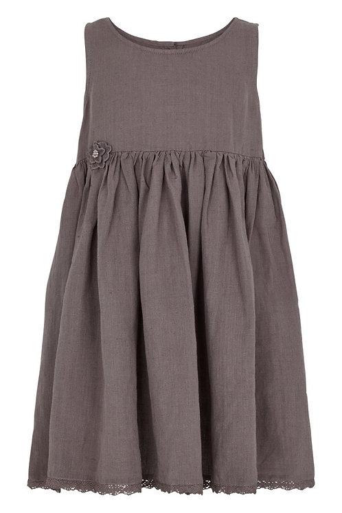 3701L - Linen dress - Plum kitten