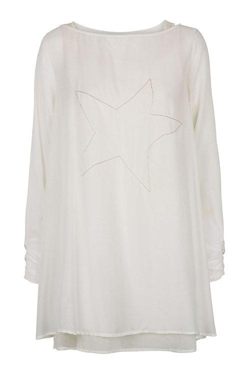 2612B - Viscose/cotton tunica set - Off-white