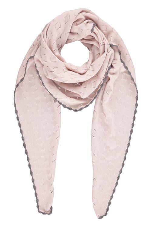 Cotton knit scarf - Mauve
