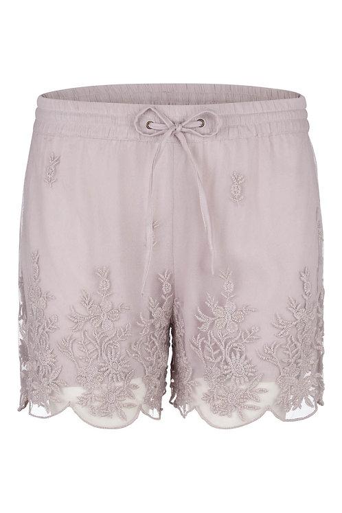2697D - Shorts w.nets lace - Purple