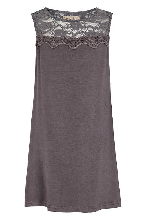 3542K - Tunica kjole - Iron Grey