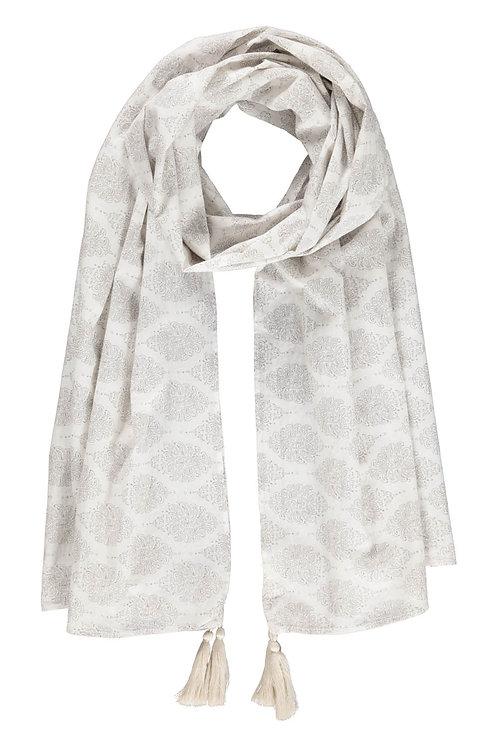 3591B - Big scarf - Taupe print