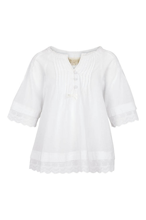 2686A - Tunica w.lace - White