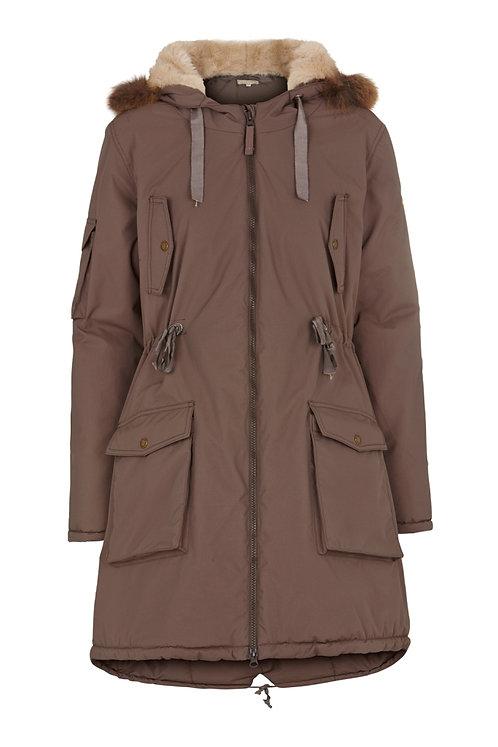 2476J - Parka Coat – Mocha