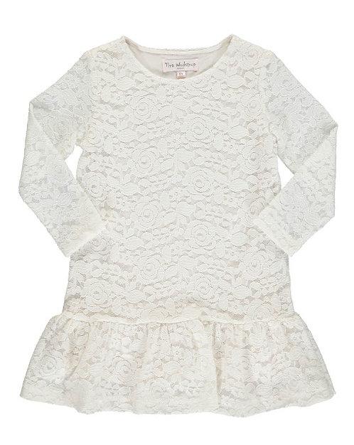 2868B - Lace dress - Beige