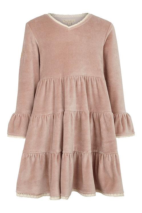 3449C - Velvet Dress - Rosa